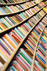 Round library shelf