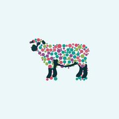 Vector illustration of sheep