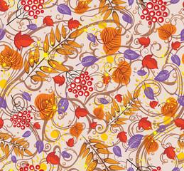 Motley pattern autumn leaf fall.