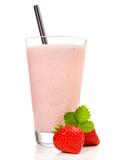 Milchshake mit Erdbeeren