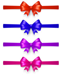 Set of multicolored bows