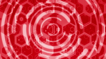 Red seamless looping technical abstract concept