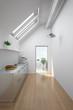 canvas print picture - Dachgeschoss mit Küche und Balkon