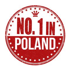 Number one in Poland stamp