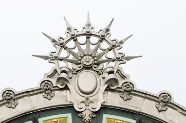 Detail of facade Train Station Bilbao