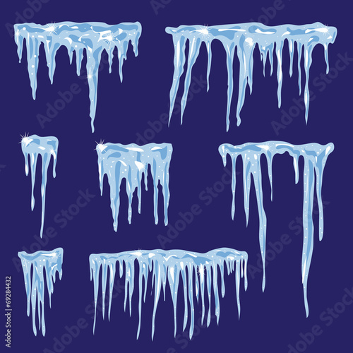 Icicles, vector set illustration for your design - 69284432