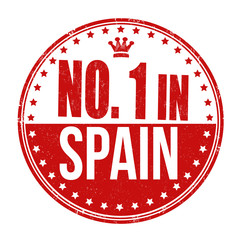 Number one in Spain stamp