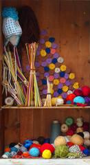 knitting and crochet still life