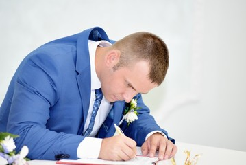 Solemn registration of newlyweds