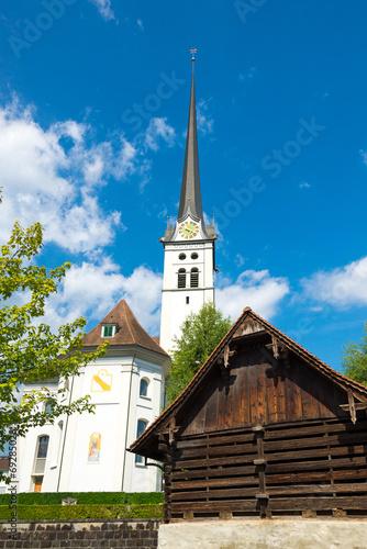 canvas print picture Pfarrkirche St. Maria Magdalena in Alpnach