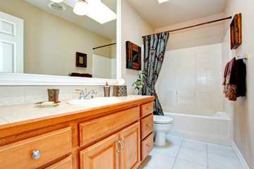 Bathroom interior in new american house