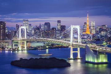 Tokyo, Japan at Tokyo Bay