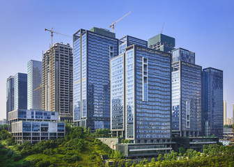 Modern Office Buildings in Chongqing, China