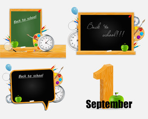 Back to School Vector Background Set EPS10