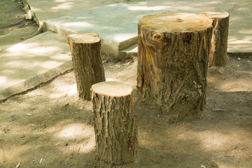 Four stumps