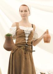 Femme de medieval pub