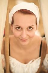 Femme médiévale paysan