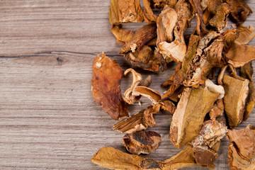 Dried mushrooms and mushroom pickles