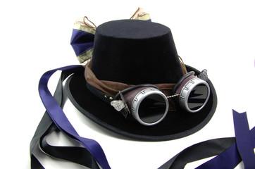 Ladies Steampunk Tall Hat isolation