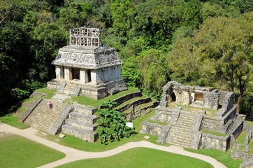 Palenque Mayan ruins temple of the Sun in Mexico