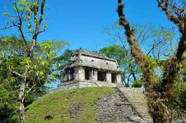 Palenque Ancient Mayan temples