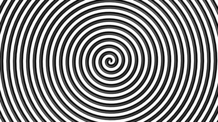 Black and white hypnotic circle