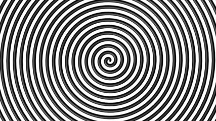 Black and white hypnotic circle