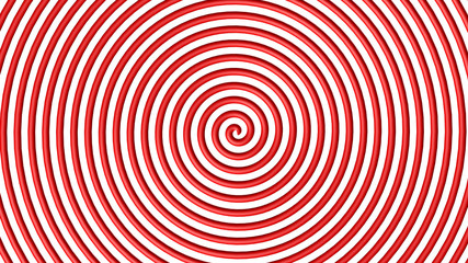 Red and white hypnotic circle