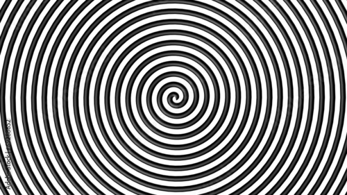 Fototapeta  Black and white hypnotic circle