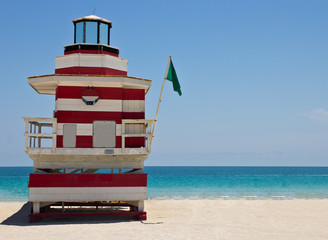 South Beach lifeguard hut in Miami, Florida