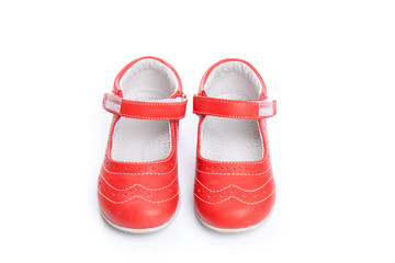 Shoes for kids isolated over a white background