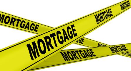 Ипотека (mortgage). Желтая оградительная лента