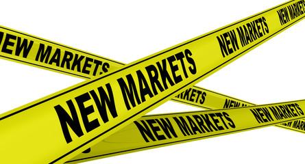 Новые рынки (new markets). Желтая оградительная лента