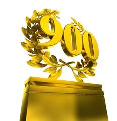 900 nine-hundred number in golden numbers