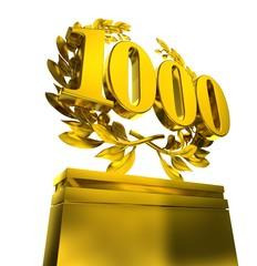 1000, thousand