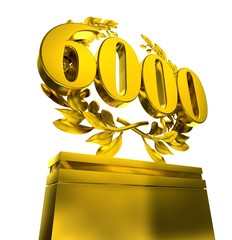 6000 six-thousand number