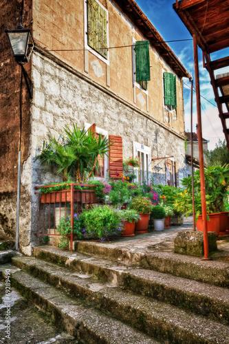 Lovely street of old mediterranean town