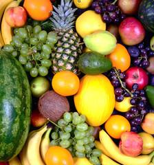 Huge group of fresh fruit - High quality studi shot