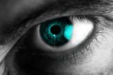 iride occhio blu