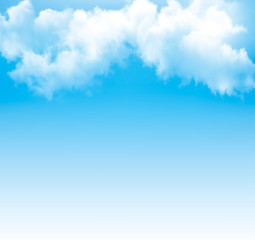Background with a cloudy blue sky. Vector.