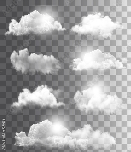 Background with a cloudy blue sky. Vector. poster