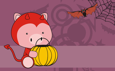 pig baby cartoon halloween costume background
