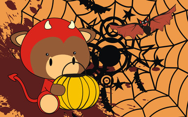 bull baby cartoon halloween costume background