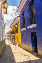 Colorful Colonial Street in La Paz