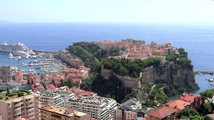bird's eye view of principality of monaco