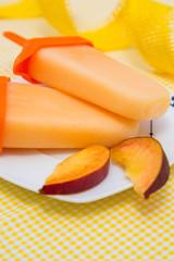 Peach ice-cream