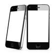 3D Illustration Black Mobile Phones