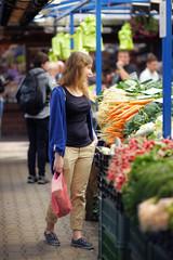 Woman at the farmer market