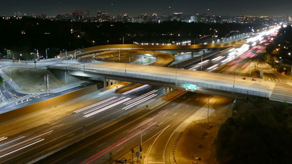 Sunset Blvd Freeway Ramp Zooming Time Lapse