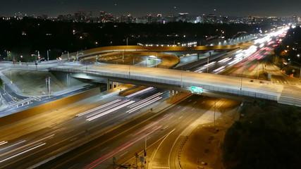 Sunset Blvd Freeway Ramp Zooming Time Lapse